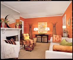 Orange And Brown Living Room Tangerine Orange Living Room Southern Living