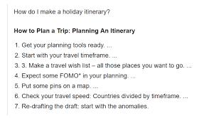 Make A Vacation Itinerary How Do I Plan A Travel Itinerary Pebblar Blog