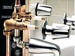 replace bathtub diverter bathtub valve 3 handle shower faucet repair how