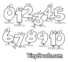 Small Picture nice Numbers Coloring Pages 0123456789 and 10