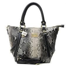 Best Style Coach Snakeskin Embossed Medium Grey Totes Dxf Outlet Zy3ee