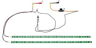 idea how to wire led strip lights to a switch and lights look like LED Connection Diagram Wiring Diagram For Motorcycle Led Lights #37