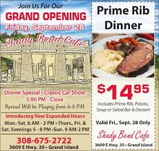 prime rib dinner flyer. Wonderful Rib Download PDF Shady Bend Cafe Prime Rib Dinner On Flyer