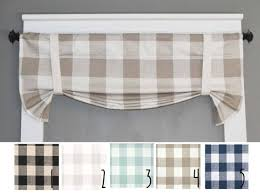 Plaid Curtains For Kitchen