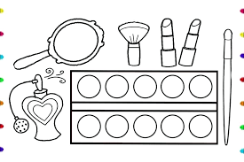 Lipstick Coloring Pages Coloring Pages For Girls Makeup Humorous