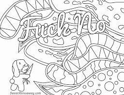 Colour Book Fresh Free Printable Coloring Page Fuck No Swear Word