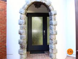 modern single 36x80 full lite rain glass front door with 2 sidelights therma tru fiberglass