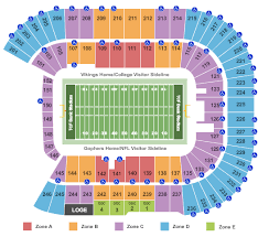 Illinois Seating Chart Football 2 Tickets Minnesota Golden Gophers Vs Illinois Fighting Illini Football 10 5 19