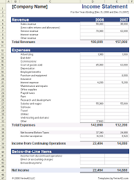 operating statement format income statement template for excel