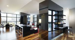 Modern Studio Apartment Design Layouts And Living Room  Interior - Modern studio apartment design layouts
