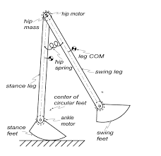 equations of motion for the cornell ranger the model of the cornell ranger that will be used is depicted in figure 1 below the model has one torsional