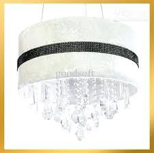 white drum chandelier modern white crystal drum chandelier light pendant lamp 5 lights living room light