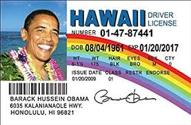 Barack Political Obama Amazon Fun Games Toys amp; Fake com Id Hawaii License