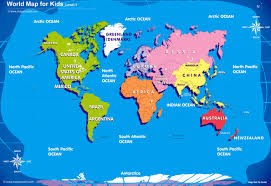 world map for kids big size