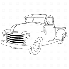 Truck clipart line drawing pencil and in color truck clipart line