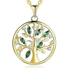 jo wisdom tree of life necklace 925 sterling silver family tree pendant necklace with gold