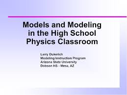 modelodeling in the high school physics classroom