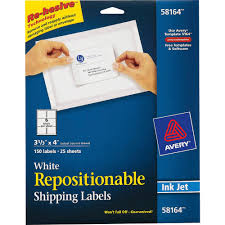 avery sheet labels avery repositionable mailing labels removable adhesive 4 width x 3 1 3 length rectangle inkjet white 6 sheet 150 pack