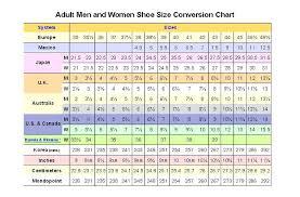 37 Interpretive Internation Shoe Size Chart