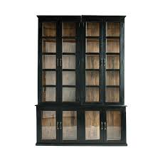 thompson black bookcase with glass