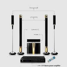wireless home sound system. hifi 5.1 wireless home theater system powerful 600 800w cinema subwoofer computer/tv speaker-in theatre from consumer sound s