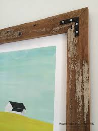 simple wood picture frames. LOVE These Simple And Stunning DIY Rustic Wood Art Frames! Full Tutorial By Designer Trapped Picture Frames