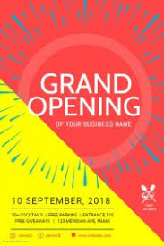 Free Grand Opening Flyer Template Create Grand Opening Flyers In Minutes Postermywall