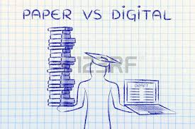 essay writing stock photos  amp  pictures  royalty free essay writing    essay writing  paper vs digital  graduate students holding a big stack of books and