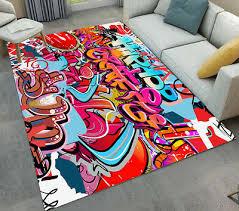 floor mat carpet graffiti hip hop art design area rugs for bedroom living room
