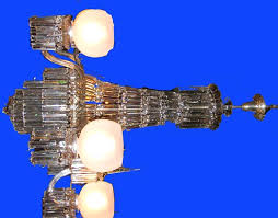 antique mount washington glass works new bedford massachusetts cut glass chandelier