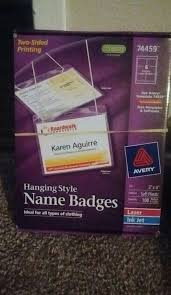 Avery Name Tags W Lanyards
