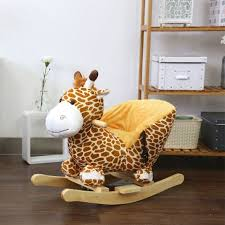 giraffe furniture. Kinbor Kids Plush Rocking Horse-Style Giraffe Theme Chair With Sound Furniture