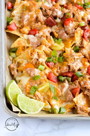 Chicken Nachos (perfect for game day!) - A Pinch of Healthy