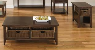 basket cocktail coffee table and end table set addition two drawer single amaretto finish feature removable