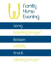 Fhe Family Home Evening Assignment Board Chart Lds