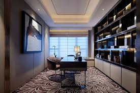 luxurious home office. Luxury Home Office Design : Fancy Modern Luxurious Ideas With Large Open R