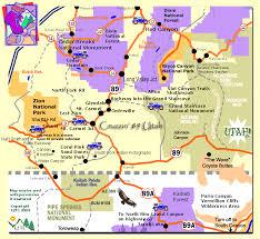 Colorado Mileage Chart Southern Utah Map Map Southern Utah
