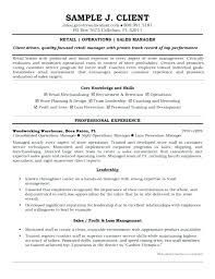 Retail Operations Manager Resume Socialum Co