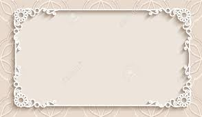 Rectangle Lace Frame With Cutout Paper Decoration Greeting Card