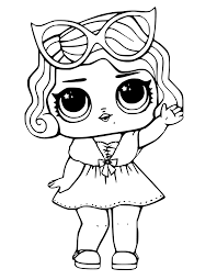 Lol Surprise Doll Coloring Pages Leading Baby Lol Dolls Doodle