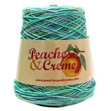 Peaches And Cream Yarn Color Chart Peaches Creme Cotton Ocean Stripes Yarn 14 Oz