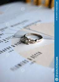 Budgeting For Wedding Budgeting For A Wedding With A Ring Stock Image Image Of Account