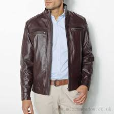 this season mens leather blouson jacket with elbow patches r reference service pc355684