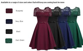 Details About Missmay Womens Vintage Floral Lace Cocktail Party Pleated Swing Dress