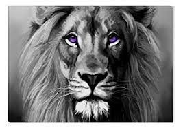 black and white lion portrait.  Black Inspirational Art Black And White Lion Portrait Canvas Wall Abstract  Picture Eco Light Framed Ready With And L