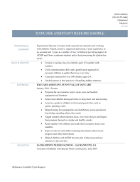 Resume For A Daycare Job Resume Template Lovely Child Care Teacher Sample For Example Of 16