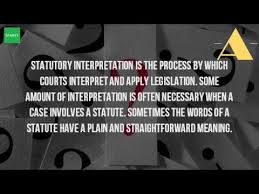 what are the rules of statutory interpretation what are the rules of statutory interpretation