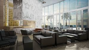 Living Room Bar Miami Porsche Design Tower Lobby 2 Investinmiamicom
