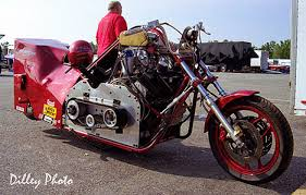 drag racing picture of the day got brass blown v8 drag bike