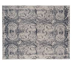 pottery barn bosworth printed wool rug gray pottery barn rugs